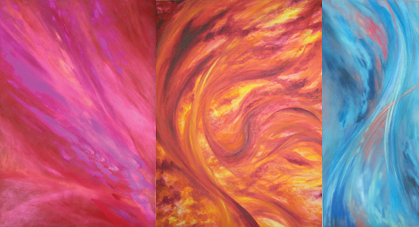 colorful evocations painting by Kauai artist Donia Lilly