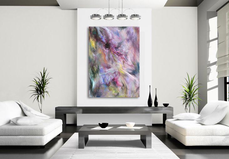 "Abstract ""Eye of the Storm"" extra large print by Donia Lilly"