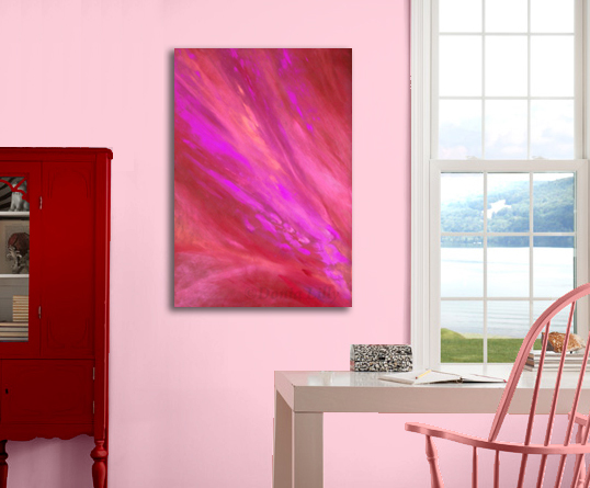 "Hot Pink abstract oversize print by Donia Lilly - ""Fuchsia I"""
