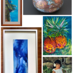 Donia Lilly painting - 1 of 5 pieces that sold at the Aloha Expressionism Art Exhibition & Silent Auction at the 2015 Hawaii Food & Wine Festival