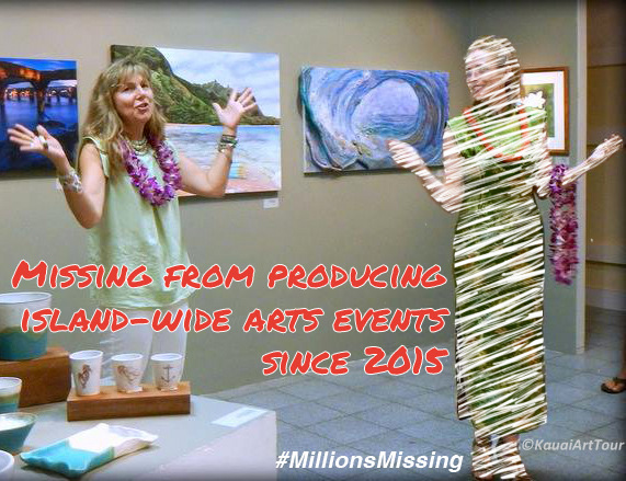 MillionsMissing Open Studio Art Event Producer Kauai Tour Hawaii Donia Lilly 2015